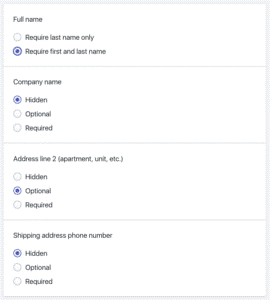Checkout Settings for GDPR